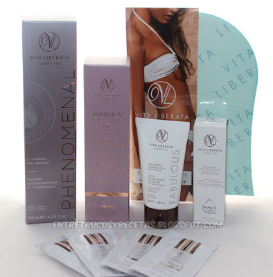 autobronceador, belleza, fabulous, marula, phenomenal, Vita Liberata, Self Tanning Anti-Age Serum, Self tanning night moisture mask, Guante Tan Mitt,