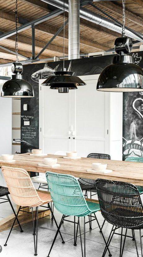 industrial dinning room decor idea