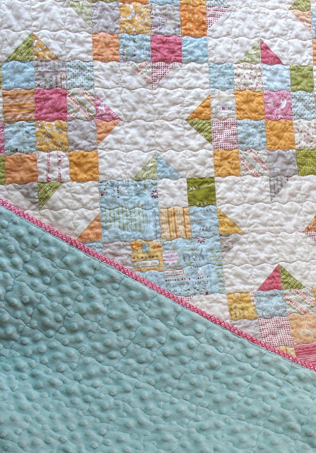 Noteworthy Crossroads quilt minky back from Ye Olde Sweatshop