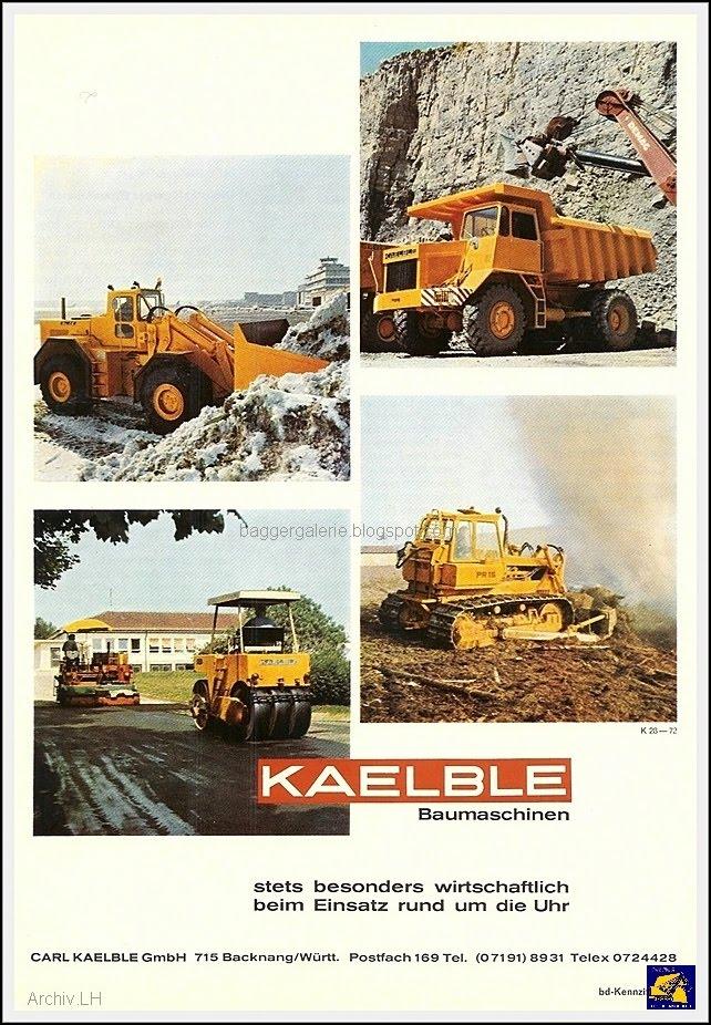 Baumaschinen Prospekte: Kaelble Radlader Wheelloader ...