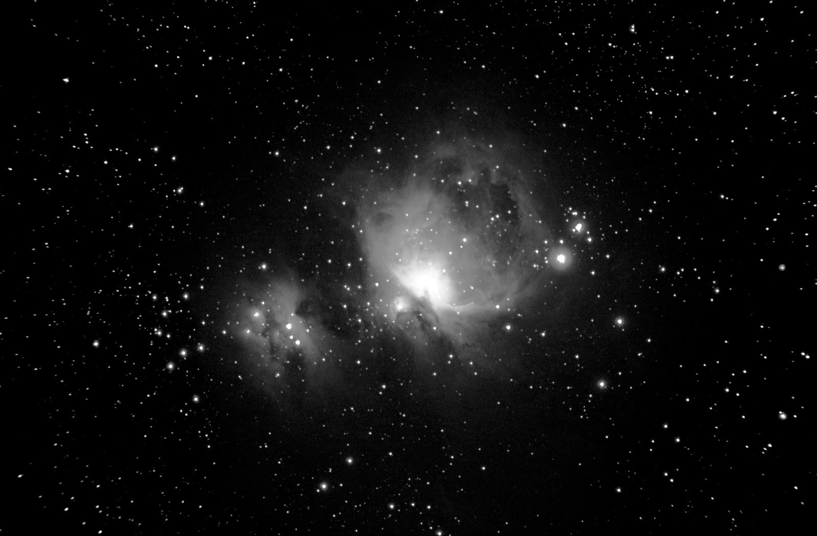 Astrof sica y f sica nebulosa de ori n en blanco y negro - Blanco y negro ...