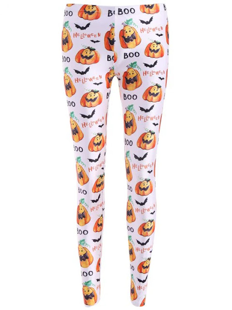 Bat Halloween Print Leggings