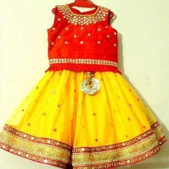 ec559e6b9 Lemon Yellow Orange Lehenga - Indian Dresses