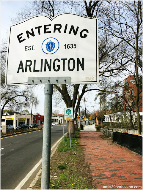 Entering Arlington, Massachusetts