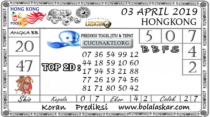 Prediksi Togel HONGKONG LASKAR4D 03 APRIL 2019