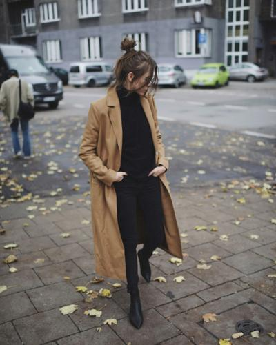 long camel coat