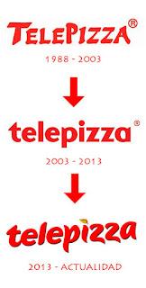 logotipo de telepizza evolucion