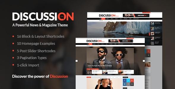 download Discussion – A Powerful News & Magazine Wordpress Theme