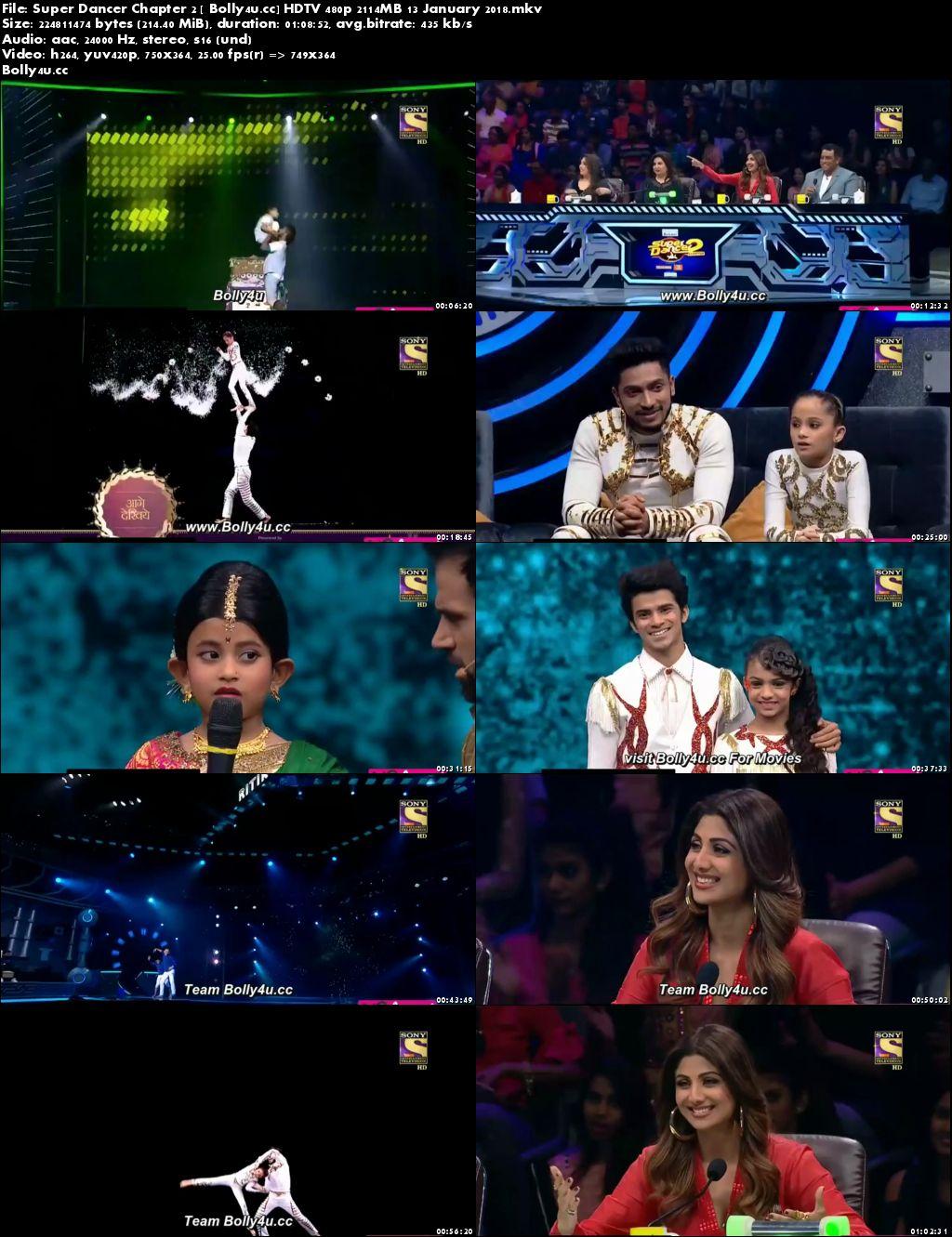 Super Dancer Chapter 2 HDTV 480p 200MB 13 January 2018 Download