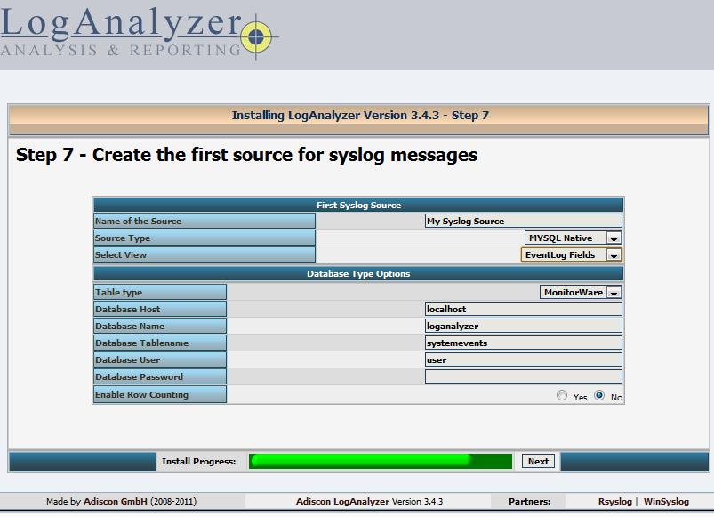 How to Install RSyslog+MySQL+LogAnalyzer on CentOS 6