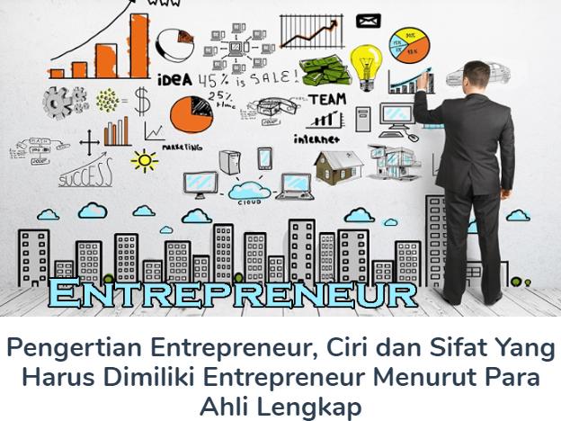 Materi Pengertian Entrepreneur Beserta Ciri dan Sifat Yang Harus Dimiliki Entrepreneur Menurut Para Ahli Terlengkap
