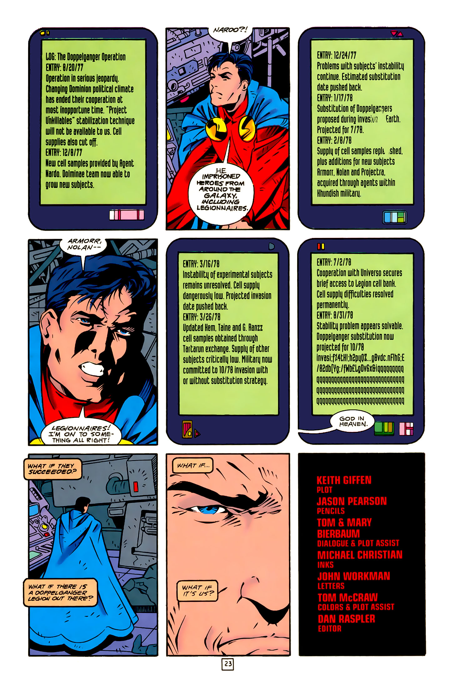 Legion of Super-Heroes (1989) 22 Page 23