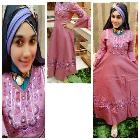 Jual Baju Gamis Muslim Unik Cantik Elegan Model Terbaru Untuk