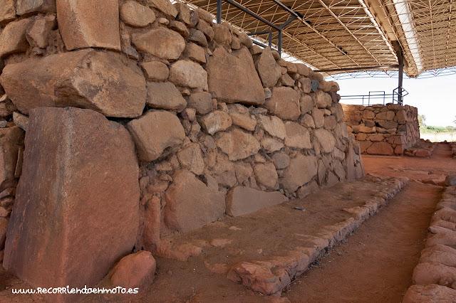 Detalle piedra Cancho Roano, Badajoz