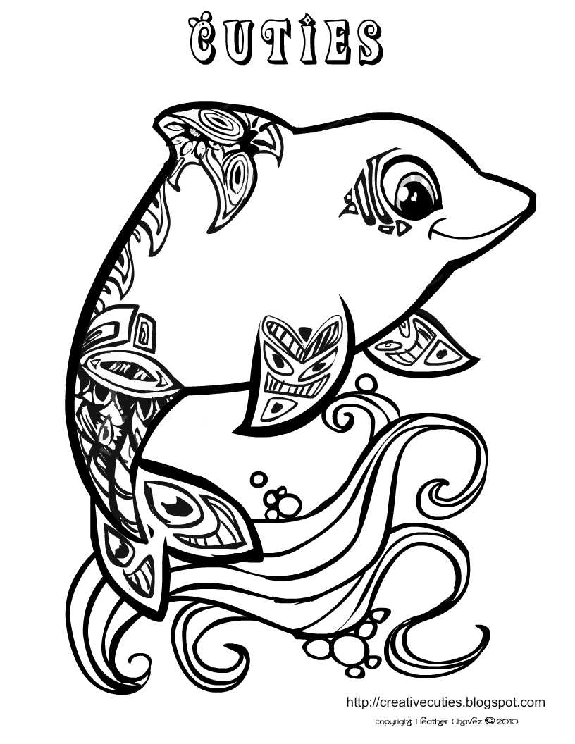 creative coloring pages for teens - photo#12