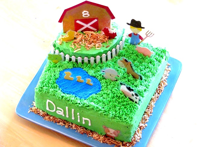 Peachy Barnyard Birthday Cake Gluesticks Blog Funny Birthday Cards Online Inifodamsfinfo