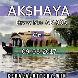 Akshaya Ak305 keralalottery results today