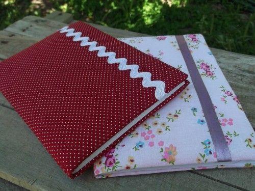caderno personalizado tecido e fita