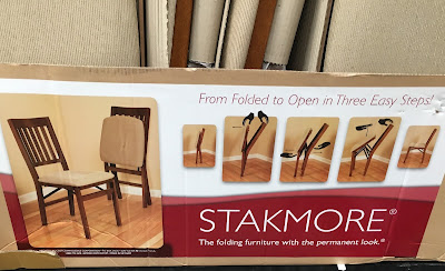 Stakmore Wood Folding Chair with Upholstered Seat - versatle, convenient, and easy to stow away