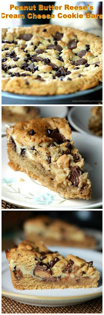 Peanut Butter Reese's Cream Cheese Cookie Bars | FoodGaZm..