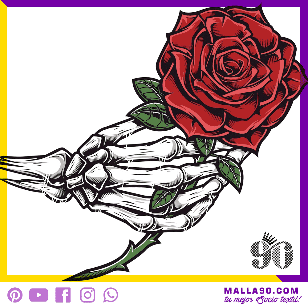 Skull with Roses vectores sin copyright