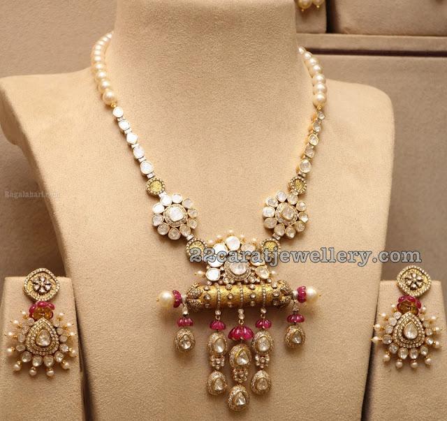 Latest Fancy Kundan Set Chandbalis