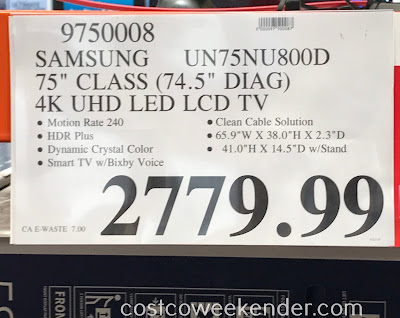 Deal for the Samsung UN75NU800D 75-inch tv at Costco