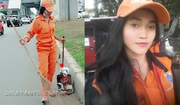 Viral! Cewek Cantik Yang Bekerja Sebagai Pasukan Orange Ini Jadi Incaran Para Pria