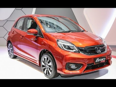 2016 Honda Brio Facelift orange side image
