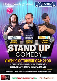Stand-Up Comedy Bucuresti Vineri 19 Octombrie