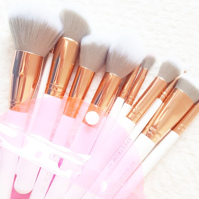 The World's Most 'Instagram-able' Makeup Brushes? | Spectrum Collections White Marbleous 12 Piece Set
