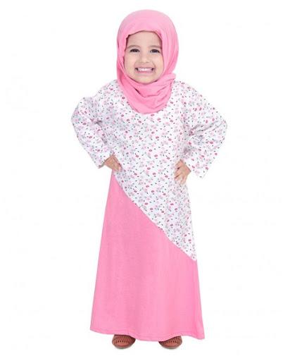 Model Baju Muslim Anak Perempuan Warna Pink Terbaru 2017/2018