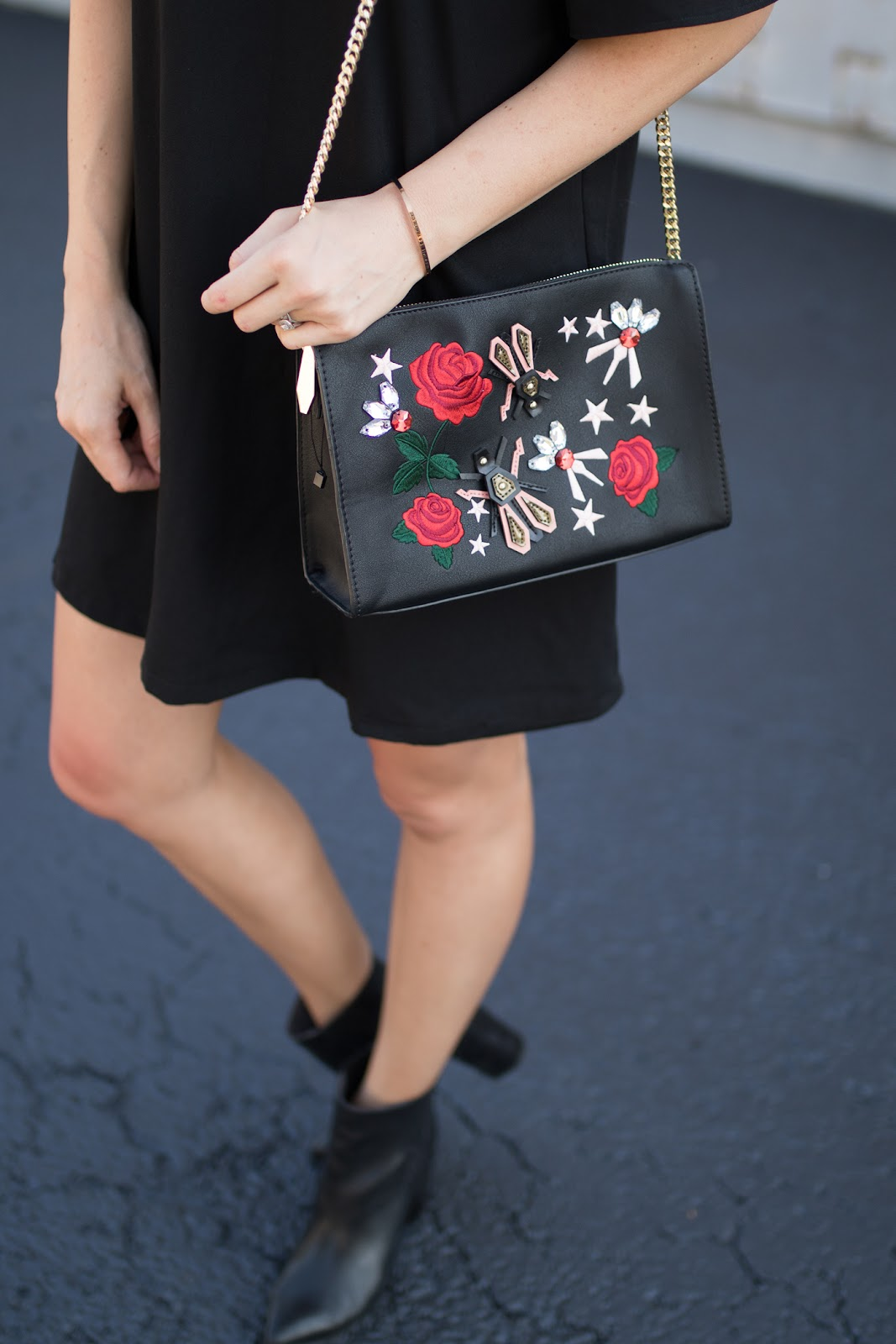 Zara embroidered bag