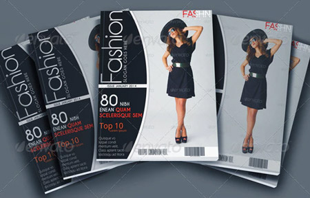 Plantilla de magazine fashion para Photoshop