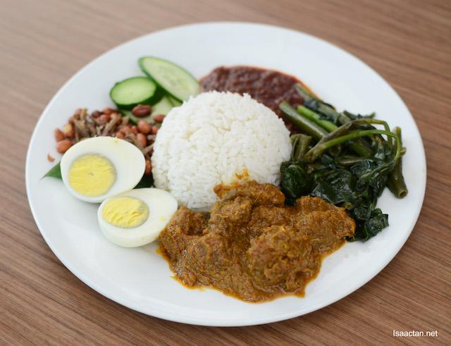 Nasi Lemak Rendang Kambing - RM16.90