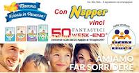 Logo Concorso ''Mamma ti porto in vacanza'': con Napper vinci 50 weekend