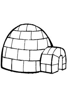 Diversos tipos de moradias-iglu
