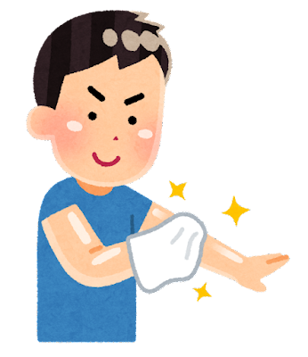自分磨きのイラスト(男性)