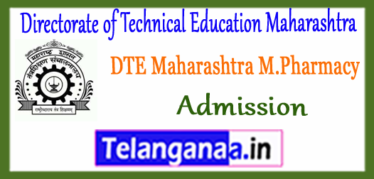 DTE Directorate of Technical Education Maharashtra M.Pharmacy Admission 2018 Application Time Table