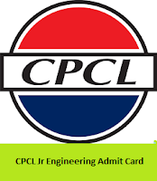 CPCL Jr Engineering Admit Card