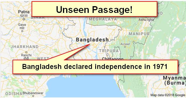 প্রাথমিক সমাপনী প্রস্তুতি-2018: Unseen passage(3)-Bangladesh declared independence...... (Download Now!)