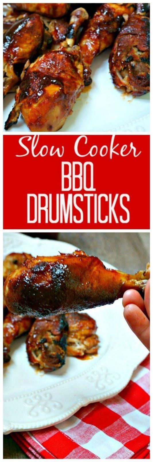 Easy Slow Cooker BBQ Drumsticks