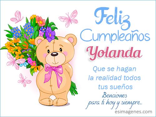 Feliz Cumpleanos Yolanda Imagenes Con Nombres Tarjetas De Cumpleanos