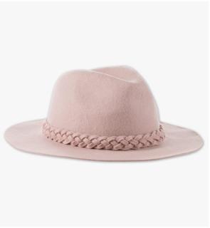 chapeau laine rose femme