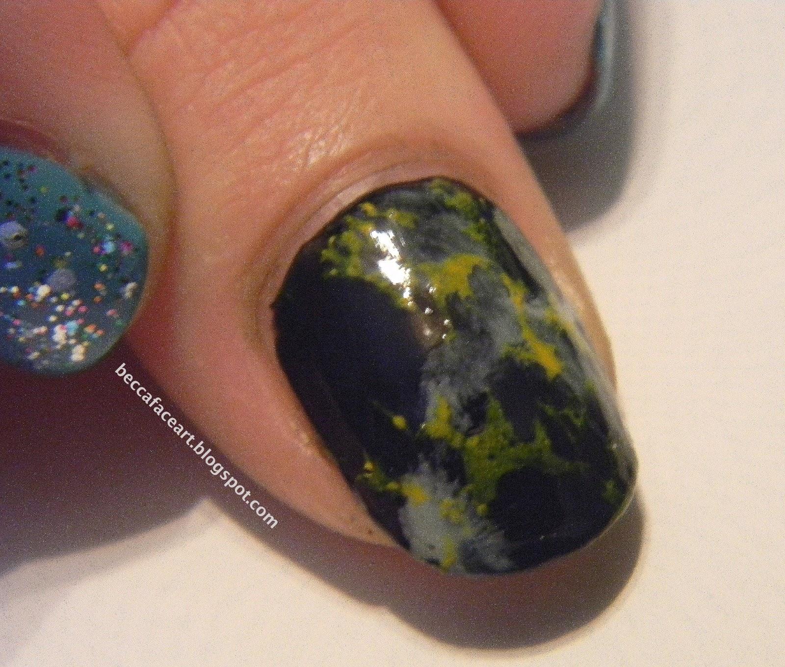 Becca Face Nail Art Dinosaur Egg Rock Nails