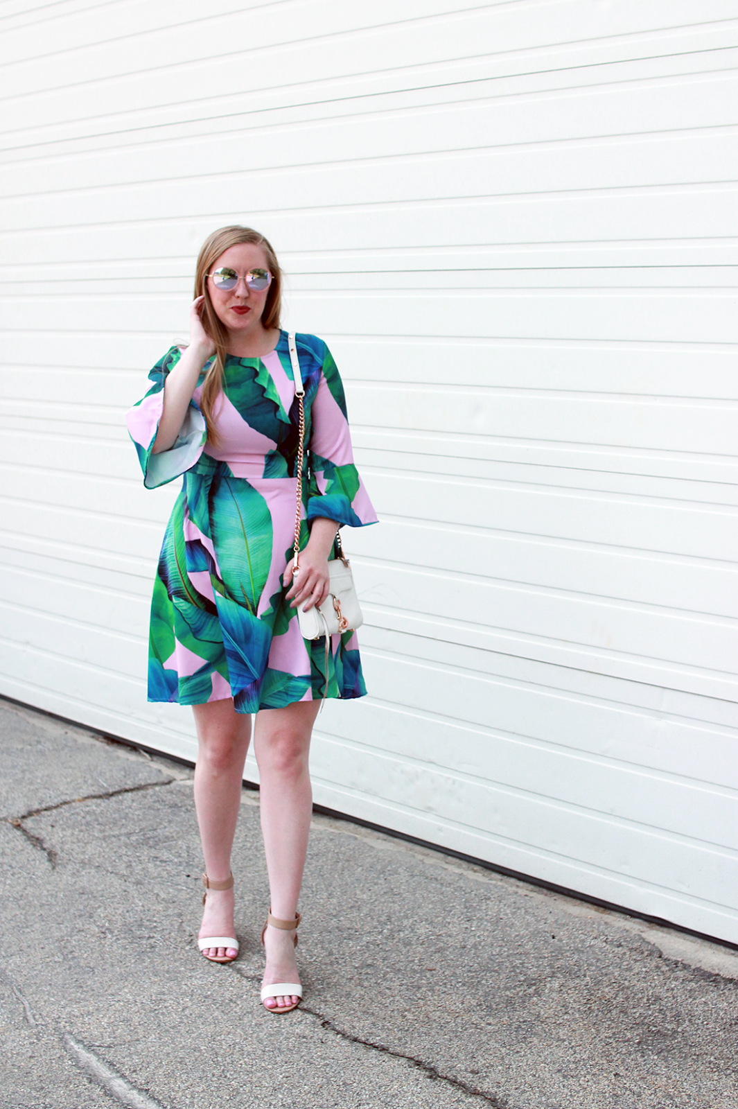 boston fashion blogger; boston blogger summer; boston blogger palm print; boston blogger style; new england style blogger; goodnight macaroon dress;