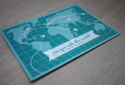 pocztówka z mapą
