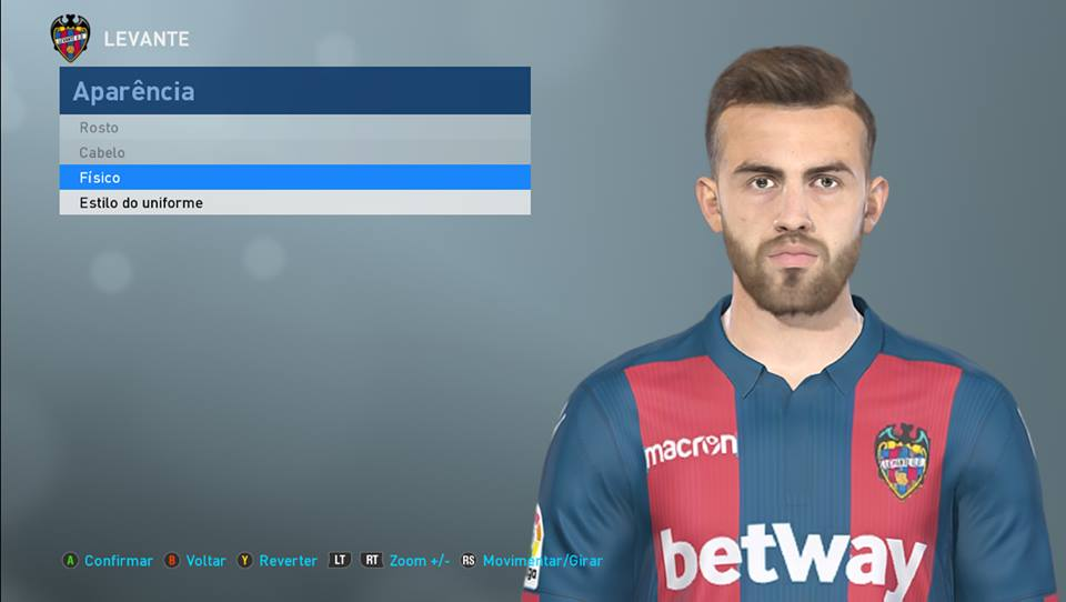 PES 2018 Borja Mayoral (Levante) face by Lucas Facemaker
