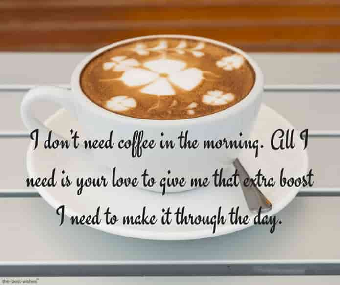 coffee message to love