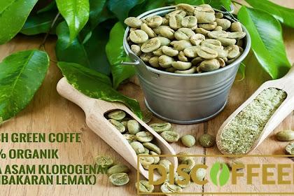 Discoffeery Kopi Hijau 100% Asli, di Proses Secara Alami